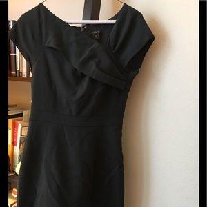 J. CREW ORIGAMI DRESS IN WOOL CREPE 43712